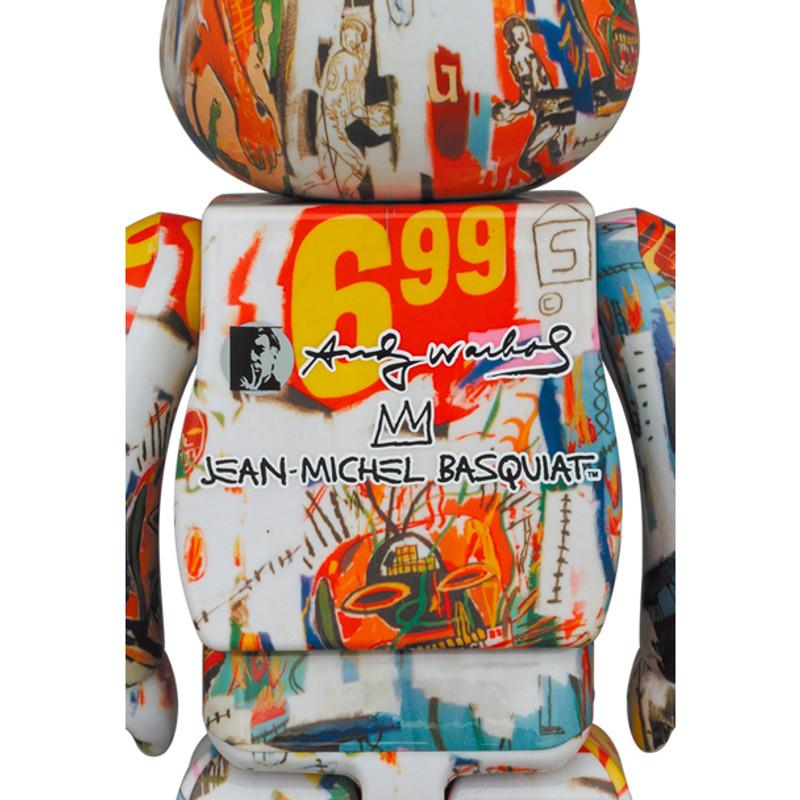 Be@rbrick 400% Andy Warhol X Jean Michel Basquiat #4 PRE-ORDER SHIPS APR 2022