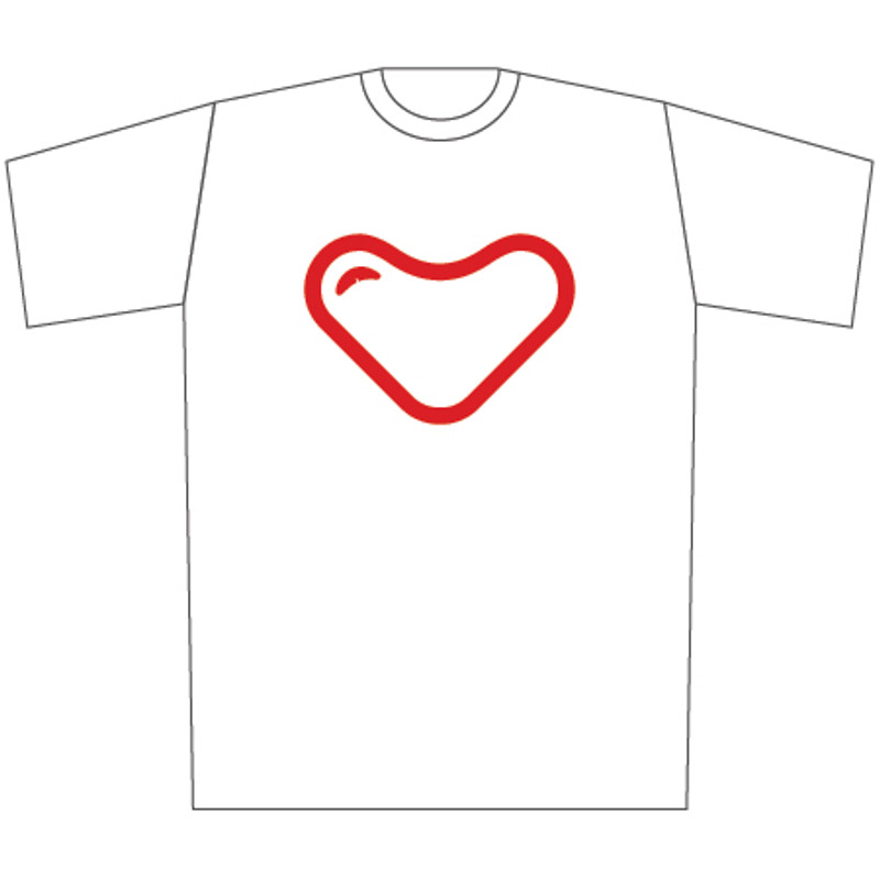 myplasticheart Tee: Red Heart on White