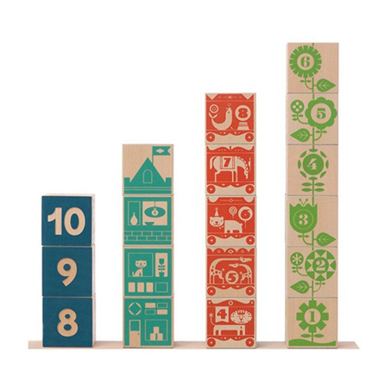 Count and Stack Numbered Blocks