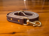 "Soft Hide Leather Leash 1"" Wide"