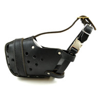 Leather Police dog muzzle Australia