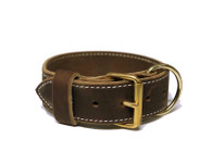 "2"" Tactical Single Leather Collar - Soft Hide Leather"