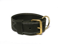 "2"" Tactical Single Leather Collar - Premium Leather"