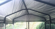 Sun and Rain Cover for  Welded Panel Dog Run