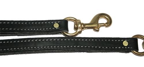 """Premium Leather TRAFFIC Leash 3/4"""" x 17"""""""