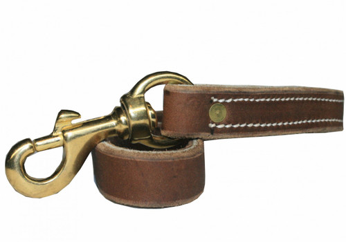 "Soft Hide Leather TRAFFIC Leash 3/4"" x 17"""