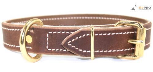 Soft Hide Leather Collar 1""