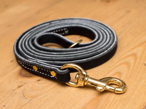 "Premium Leather Leash 5/8"" General Duty Leash"