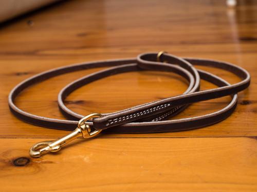 "Soft Hide Leather Leash 3/8"""