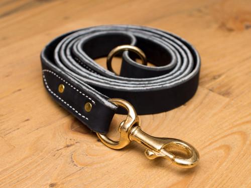 "Premium Leather Leash 1"" Super Heavy Duty"