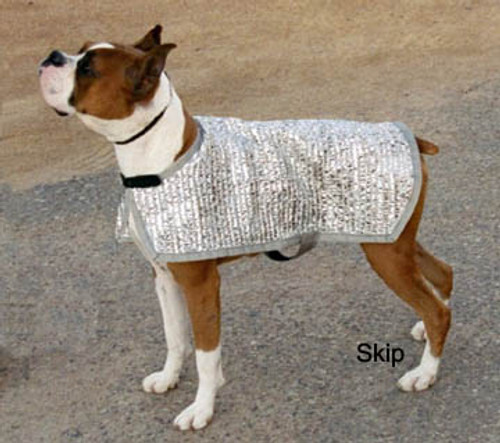 Silver Shade Mesh K-9 Cooler Coat