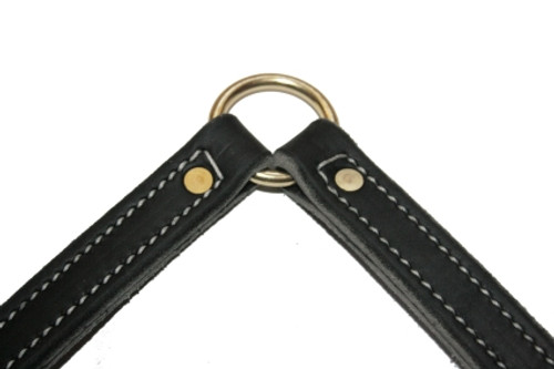 Soft Hide Leather two dog coupler leash