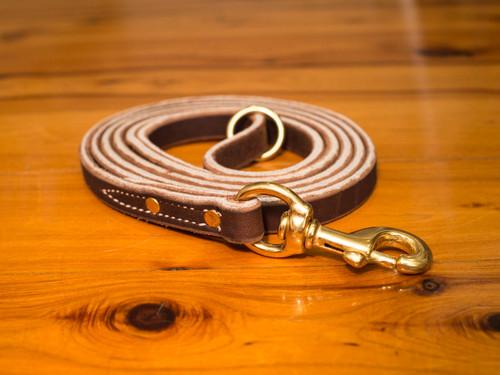 "Soft Hide Leather Leash 3/4"" - Heavy Duty Leash"
