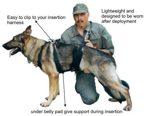 Redline K9 Tactical Insertion Harness