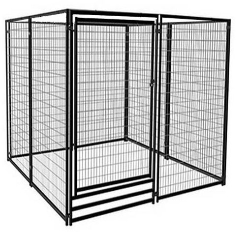 Deluxe Outdoor Welded Panel Dog Kennel Run Kit