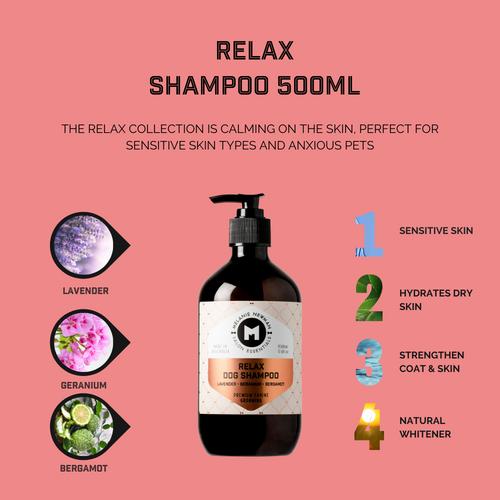 Relax Dog Shampoo by Melanie Newman Salon Essentials