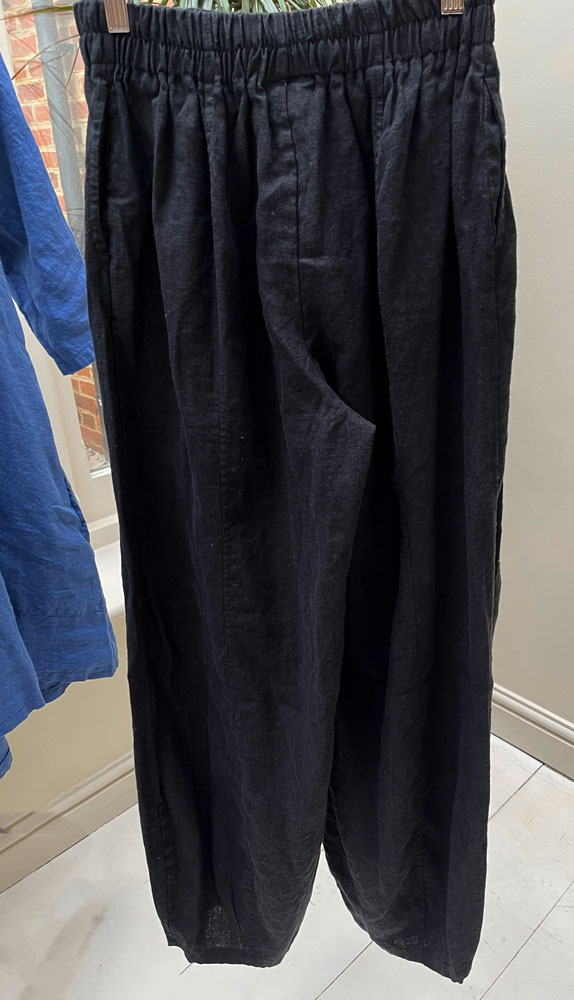 Thing Black Long Linen Trousers