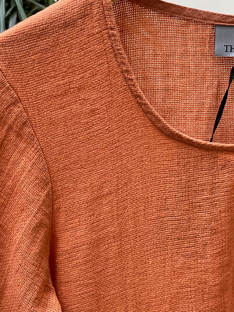 Thing  Apricot Linen Top