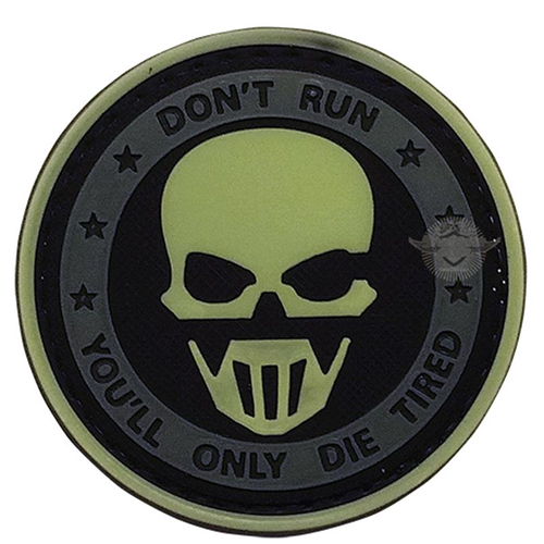 Don't Run Ghost Night Glow Morale Patch