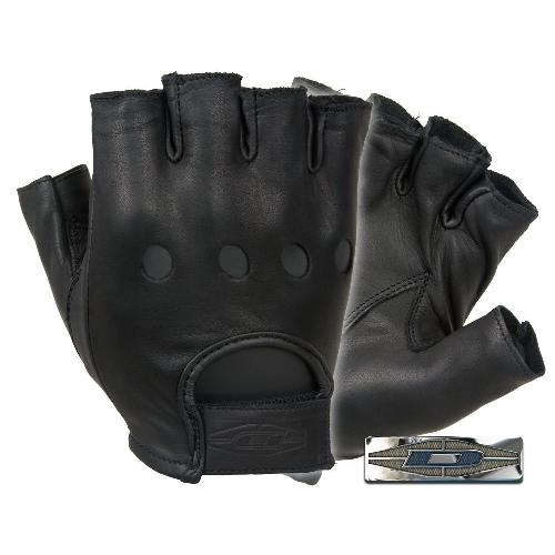 Half-Finger Leather Driving Gloves
