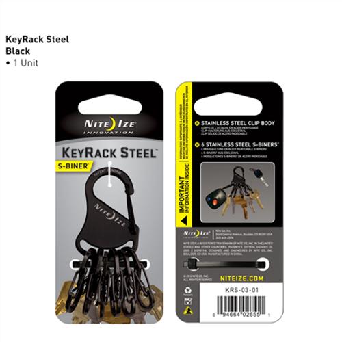 Keyrack Steel S-biner - Black