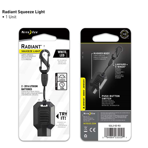 Radiant Squeeze Light Led Key Chain Light
