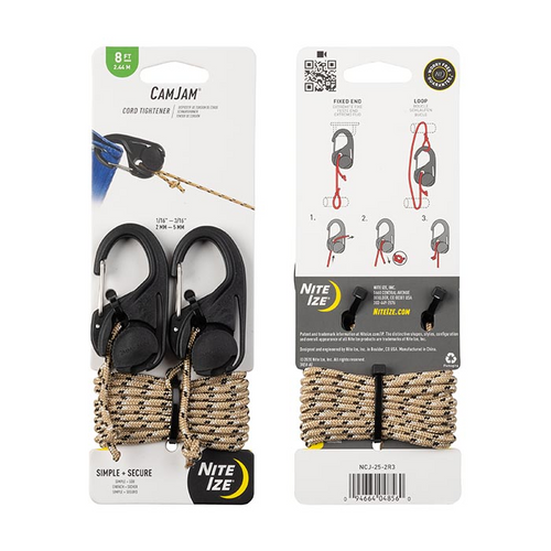 Camjam Cord Tightener 2 Pack With 8ft Rope