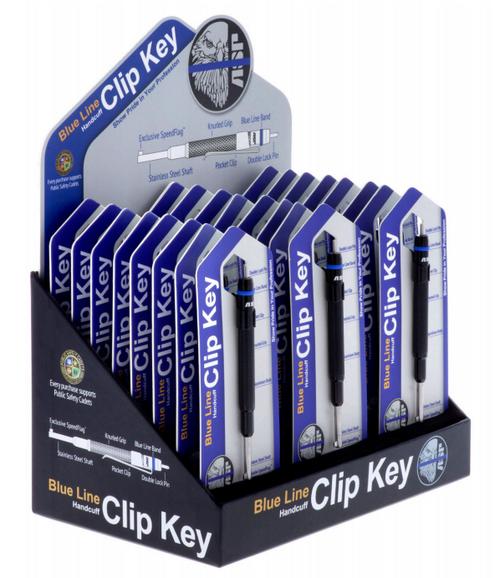 Blue Line Handcuff Key 24 Piece Display