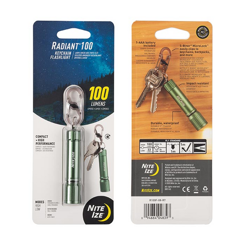 Radiant 100 Keychain Flashlight - Olive