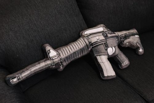 Assault Rifle Pillow
