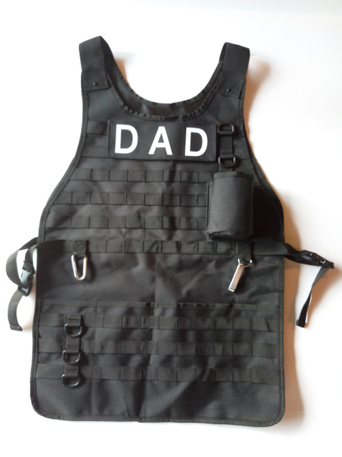 Tactical Bbq Apron W/ Carabiner And Bottle Opener