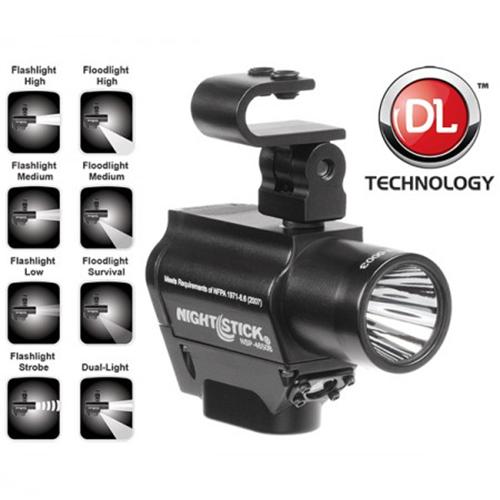 Helmet-mounted Multi-function Dual-light Flashlight
