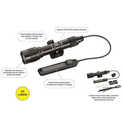 Black, Weapon-mounted Flashlight - 88059
