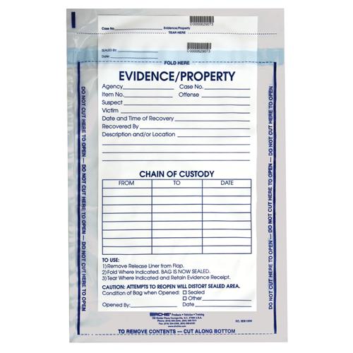 Integrity Evidence Bag 12'' X 15 1/2'' (100 Each)