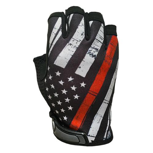 Red Line Flag - Unlined - Half Finger Gloves