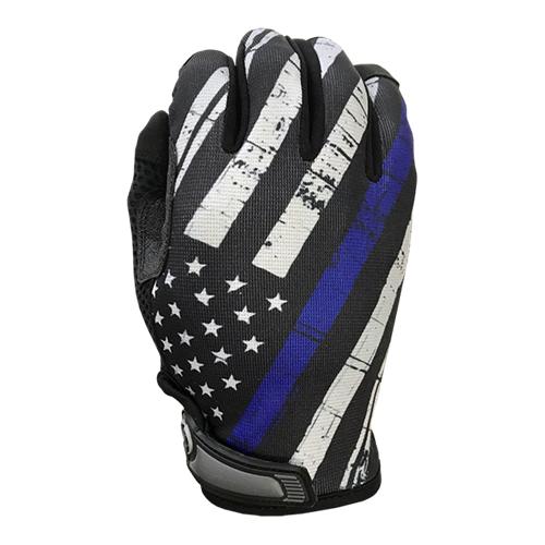 Blue Line Flag - Unlined - Full Finger Gloves