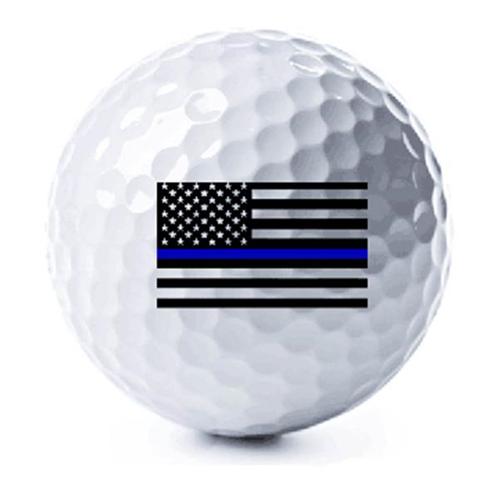 3 Pack - Thin Blue Line American Flag Golf Balls