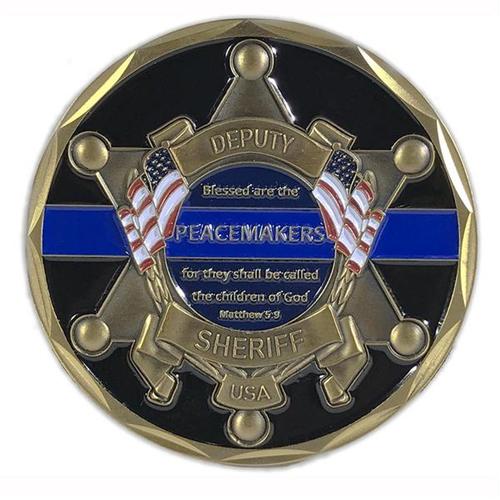 Thin Blue Line Deputy Sheriff St. Michael's Coin