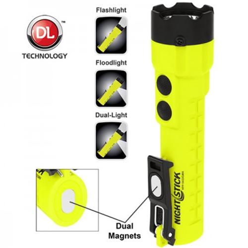 X-series Intrinsically Safe Dual-light Flashlight W/dual Magnets