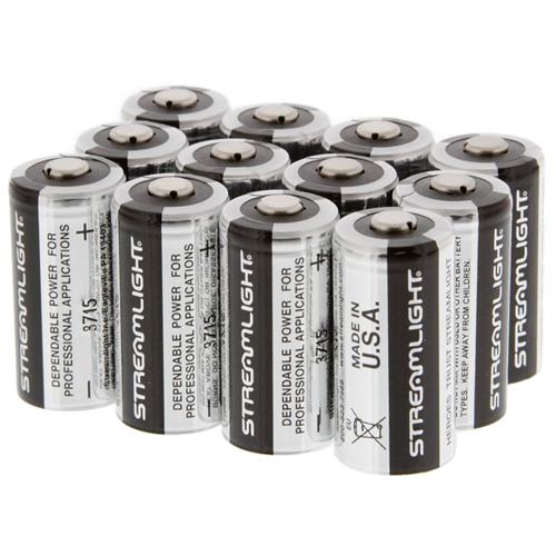 Cr123a Lithium 3v Batteries (12 Pack)