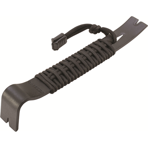 7.5 In Black Powder Coated Sk5 550 Paracord Wrapped Pry Bar
