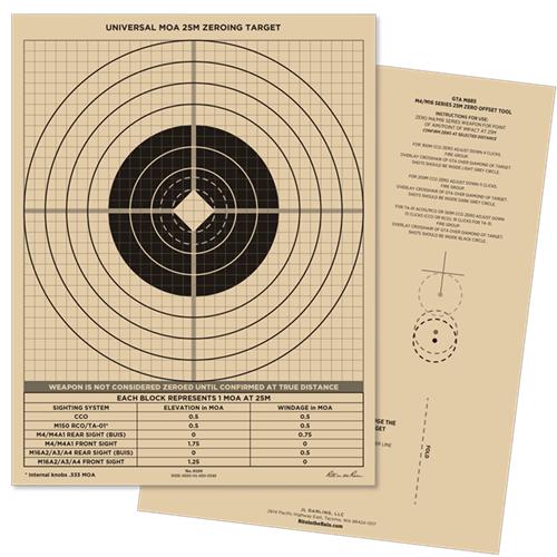 Riterain 8.5x11 Zeroing Target