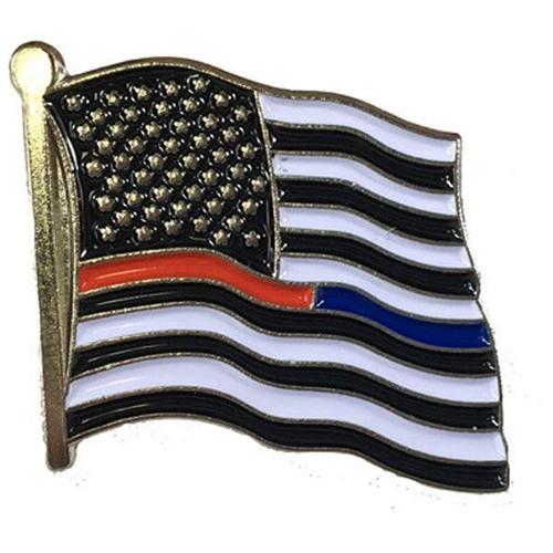 Dual American Flag Pin