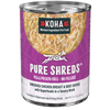 Koha Pure Shreds Shredded Chicken Breast & Beef Entree Dog Food, Case of 12