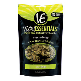 Vital Essentials Beef Tripe Freeze Dried Dog Treats, 2.3 OZ.