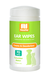 Nootie Cucumber Melon Ear Wipes, 70 Wipes