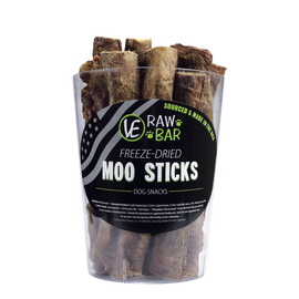 Vital Essentials Bully Moo Stick Freeze Dried Dog Treats, Case of 20.