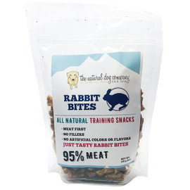 The Natural Dog Company 95% Rabbit Training Bites Dog Treats, 6 OZ.