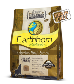 Earthborn Chicken Meal Recipe Dog Treats, 2 LB.