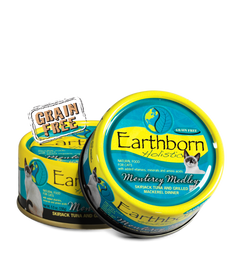 Earthborn Monterey Medley Skipjack Tuna and Grilled Mackerel Dinner in Gravy Cat Food 5.5 OZ.,  Case of 24